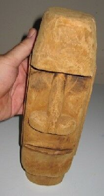 Easter Island Head Hand Carved