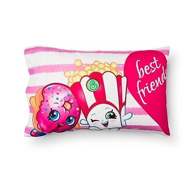 Shopkins Best Friends Set of 2 Pillowcases 2 Sided NEW