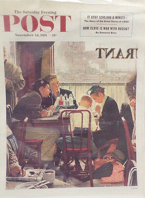 The Saturday Evening Post Poster November 24 1954 Norman Rockwell