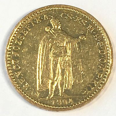 1904 Hungary 20 Korona Gold Coin - High Quality Scans #D007