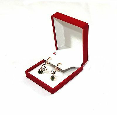 6 Drop Dangle Large Earring Red Velvet Gift Boxes Jewelry Display