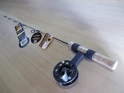 CELSIUS BLIZZARD flat line Ice rod and reel combo  28 inch medium heavy action
