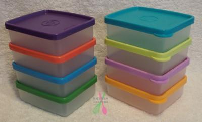 Tupperware Mini Square Away/Snack on the Go - Square Containers 160ml - New