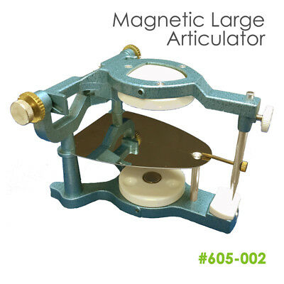 Dental Lab Large Magnetic Articulator Dentist w/ Occlusal Plate+Pin+Lock Screw