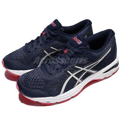 Asics Gt 1000 6 D Wide Navy Red White Women Running Shoes Sneakers T7b5n 5093