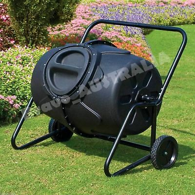 Portable Tumbler Compost Bin Garden Aerated Recycling Food Waste Composter 190L