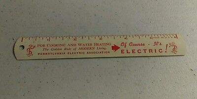 Vintage Reddy Kilowatt Advertising Ruler Pennsylvania Electric Association Rare