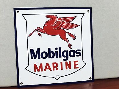 Mobilgas marine rare Mobil Gas pegasus oil gasoline vintage advertising sign
