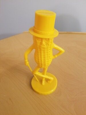 "1950's Planters Mr Peanut Yellow 8-1/2"" Plastic Coin Bank"