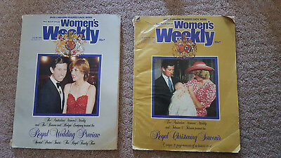 2x Collectable Women's Weekly Magazines 1981 and 1982 Princess Dianna