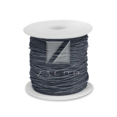 1 Roll 80M Waxed Cotton Cord Jewelry Making Thread Beading Supply 0.8mm Gray