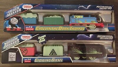 New Thomas Trackmaster Glow In The Dark Trains Diesel And Thomas Engines