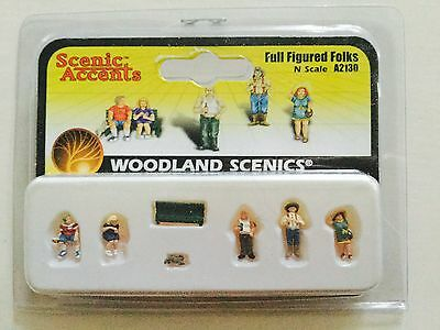 Woodland Scenics Accents 1/160 N Scale Full Figured Folks # A2130 Factory Sealed