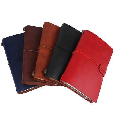 5-Color PU Leather Travel Notebook Personalized Journal Diary Refillable Notepad