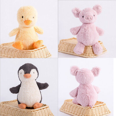AU Cute Baby Kid Pink Pig Yellow Duck Stuffed Animals Soft Toys Plush Doll 26 CM