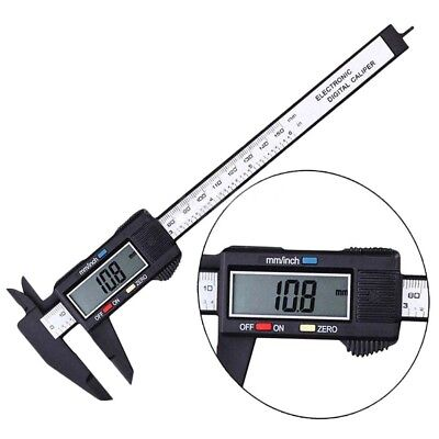 "150MM 6"" Plastic LCD Digital Electronic Vernier Caliper Gauge Micrometer Durable"