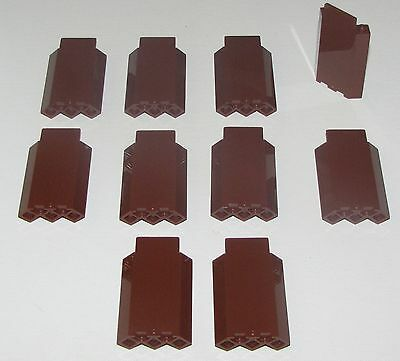 Lego Lot Of 10 New Reddish Brown Castle Wall 3 X 3 X 6 Corner Wall Pieces