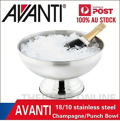 Avanti Lifestyle Champagne/Punch Bowl Stainless Steel Drink Ice Bucket Catering