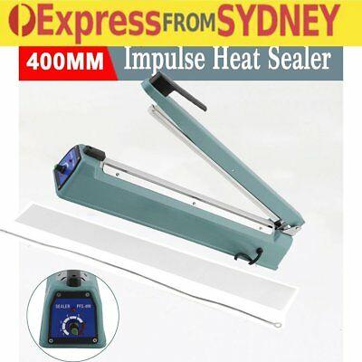 400mm Impulse Heat Sealer Electric Plastic Poly Bag Sealing Machine AU stock VCD