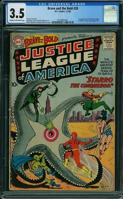 Brave and the Bold #28 CGC 3.5 1960 DC 1st Justice League! JLA! G9 311 cm