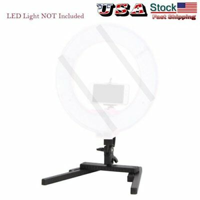 Foldable LED Ring Beauty Light Desktop Stand Bracket For Makeup Selfie US STOCK