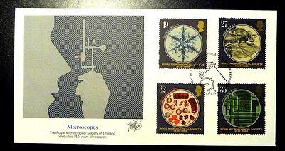 5 Covers Royal Mail First Day Cover Microscopes 1989 Fleetwood 5 Flawless Covers