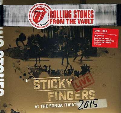 Rolling Stones - Sticky Fingers Live At The Fonda Theatre 2015, 3Lp + Dvd, New!
