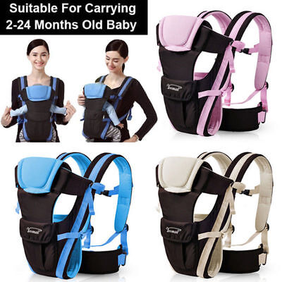 Ergonomic 4 Position Breathable Adjustable Infant Newborn Baby Carrier Backpack