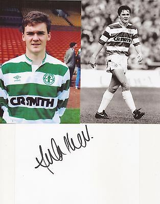 CELTIC: ANDY WALKER SIGNED 6x4 WHITECARD+2 UNSIGNED PHOTOS+COA