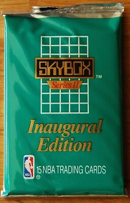 1990-91 NBA Skybox Series 2 Basketball Cards Pack, 15 Cards In Pack