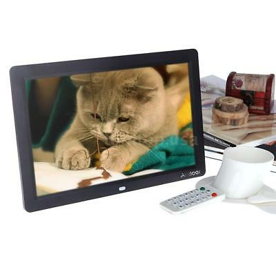 12'' HD LCD Digital Photo Frame Picture Clock MP3/4 Player+Remote for Gift F8Q1