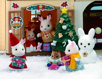 Sylvanian Families Christmas Set 20 Pieces Age 3 To 10 Imaginative Role Play New