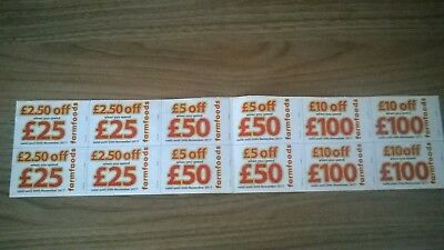 Farmfoods Discount Vouchers £140 Off Coupons Expiry 31 October &  30th Nov 2017