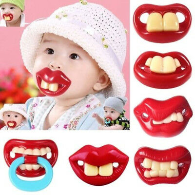 AU Baby Funny Pacifier Nipples Teeth Silicone Orthodontic Mustache Dummy Beard