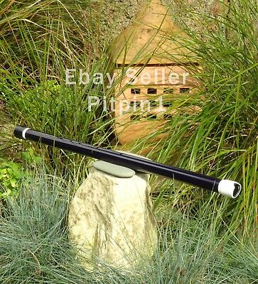 Shakuhachi flute PVC (56cm C#) and vinyl wrapped. Aid to meditation and zazen.