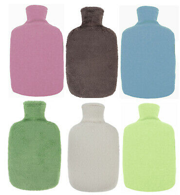 Eco Green Bio Based Fashy Fleece 1.6L Hot Water Bottle