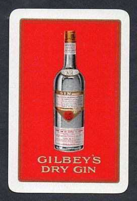 #100.733 vintage swap card -NEAR MINT- Advert. Gilbey's Dry Gin