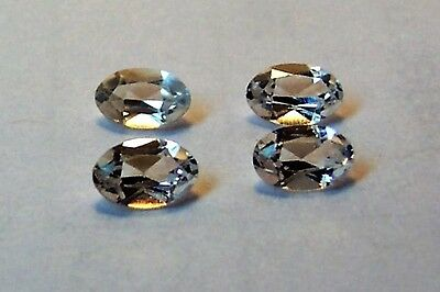 lab created stunning 4  white sapphire 4x6 oval excellent cut color gemstone
