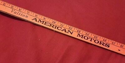 Valiton AMC AMERICAN MOTORS Toledo Ohio VINTAGE YARDSTICK antique JEEP PACER
