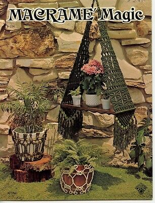 Macramé Magic - 1975 - Macramé pot hangers, wall hangings