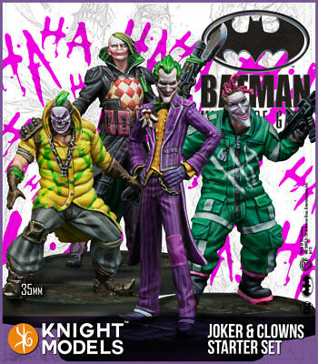 Knight Models Batman Miniature Game Joker and Clowns Starter Set
