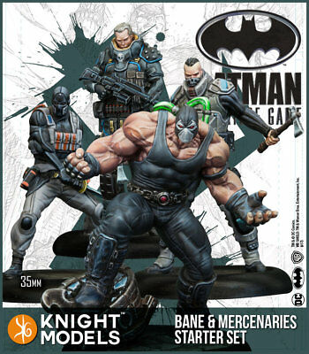 Knight Models Batman Miniature Game Bane and Mercenaries Starter Set