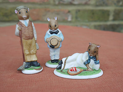 """Franklin Mint """"The Woodmouse Family""""  Henry, Tom & Harold"""