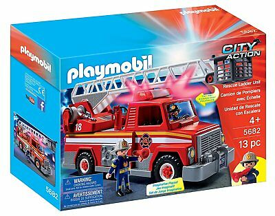 NEW Playmobil 5682 City Action Rescue Ladder Unit Playset