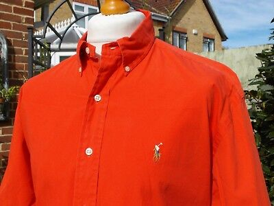 Ralph Lauren Tropical Red Button-Down Shirt - L/XL/XXL - Mod Ska Scooter Casuals