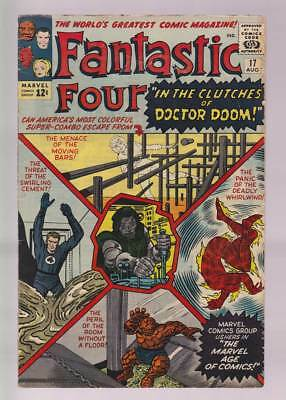 Fantastic Four # 17  In the Clutches of Doctor Doom !  grade 5.0 scarce book !