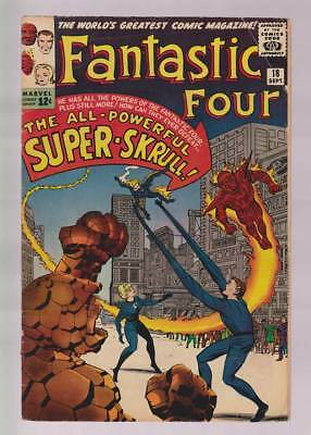 Fantastic Four # 18  The All-Powerful Super-Skrull !  grade 5.0 scarce book !