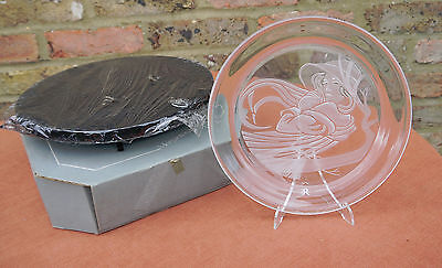"""Morgantown Crystal  """"Angelica""""  Plate and Stand"""