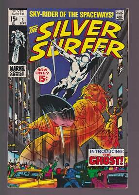 Silver Surfer # 8  Introducing : The Ghost !  grade 7.5 scarce book !