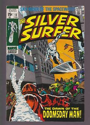 Silver Surfer # 13  The Dawn of the Doomsday Man !  grade 7.5 scarce book !